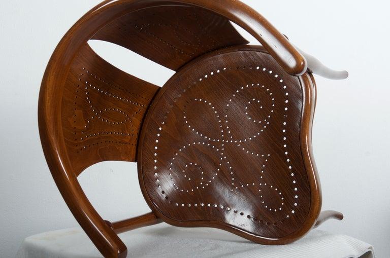 Vienna Secession Rare Thonet Armchair Desk Chair Nr. 1 For Sale