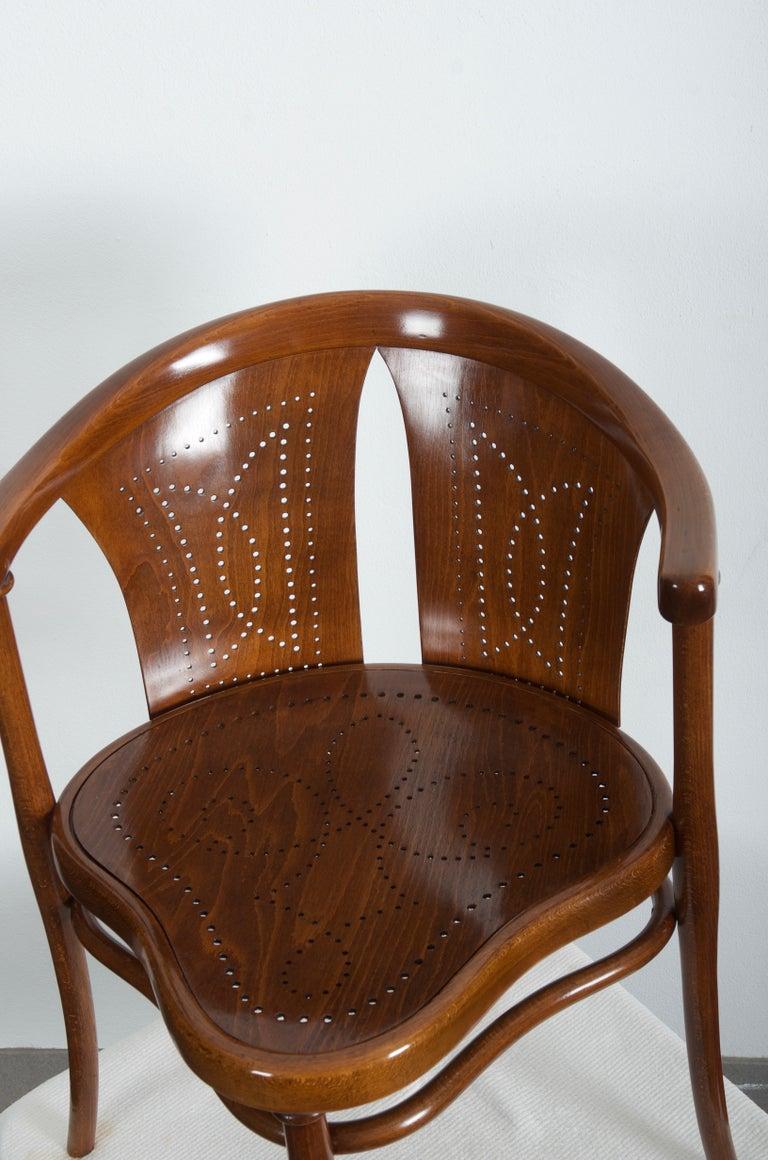 Austrian Rare Thonet Armchair Desk Chair Nr. 1 For Sale