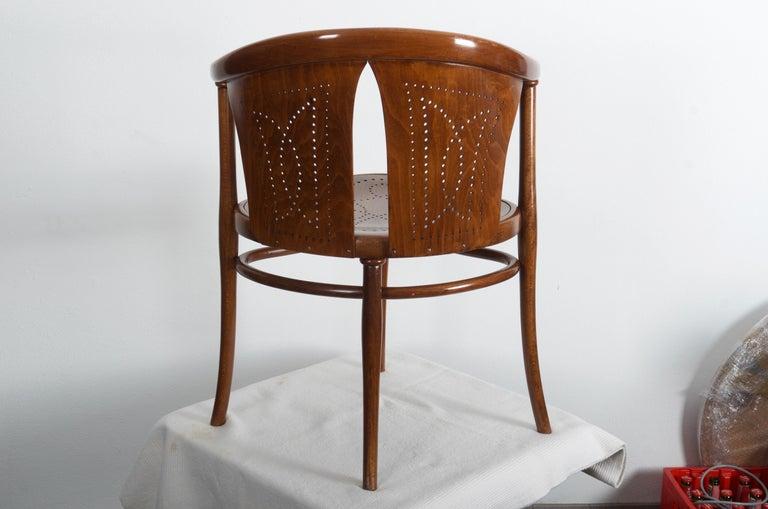 Early 20th Century Rare Thonet Armchair Desk Chair Nr. 1 For Sale