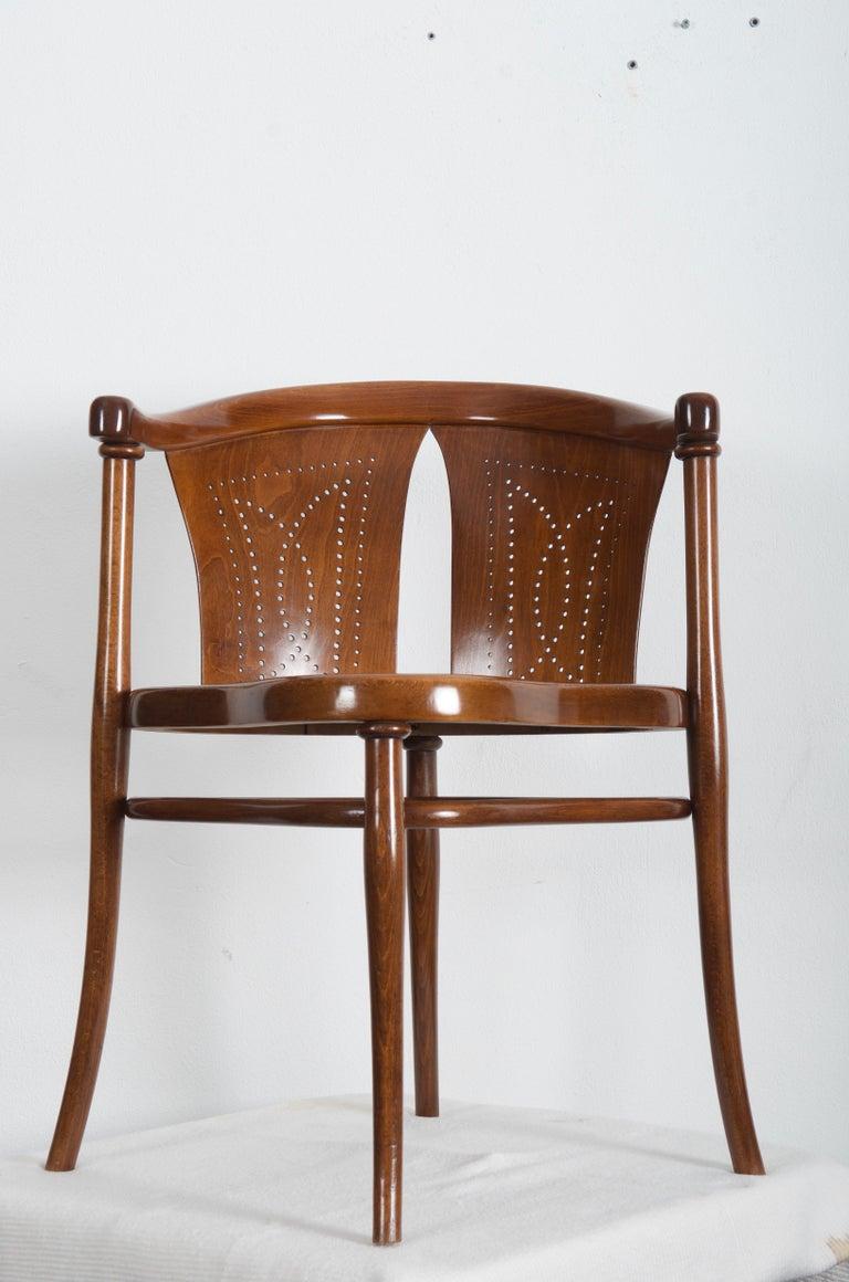 Beech Rare Thonet Armchair Desk Chair Nr. 1 For Sale
