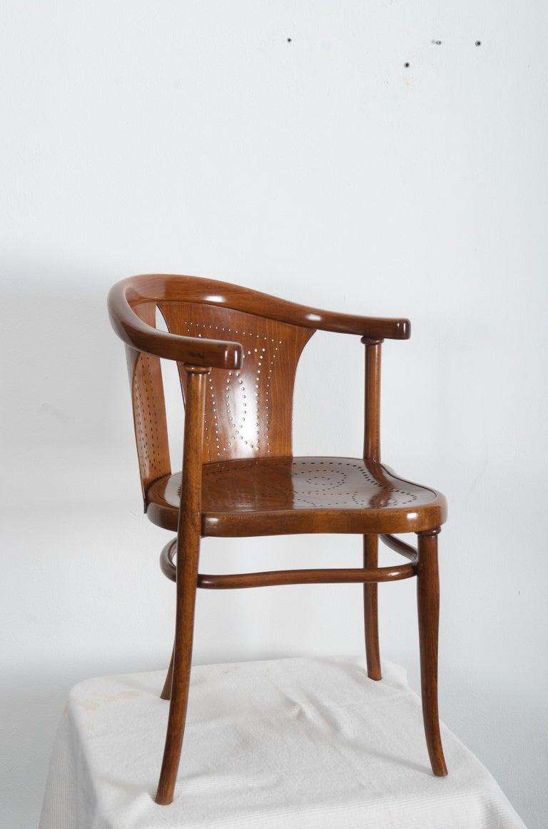 Rare Thonet Armchair Desk Chair Nr. 1 For Sale 1