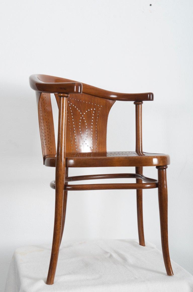 Rare Thonet Armchair Desk Chair Nr. 1 For Sale 2