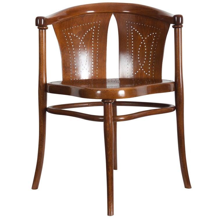 Rare Thonet Armchair Desk Chair Nr. 1 For Sale