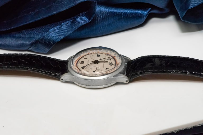 Rare Tiffany & Co. Chronograph Telemeter Stainless Steel Aviation Wristwatch For Sale 6