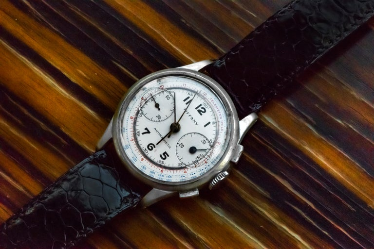 1940s  Tiffany Chronograph Telemeter   During this timeframe, Tiffany has been associated with with some of the worlds most premier and historic vintage chronograph of this period , primarily adding Additional value as a collaborator You can find