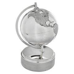 Rare Tiffany Sterling Silver Globe