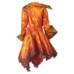 Rare Tony Award Winner Paul Tazewell Orange Fire Hand Painted Rhinestone Jacket