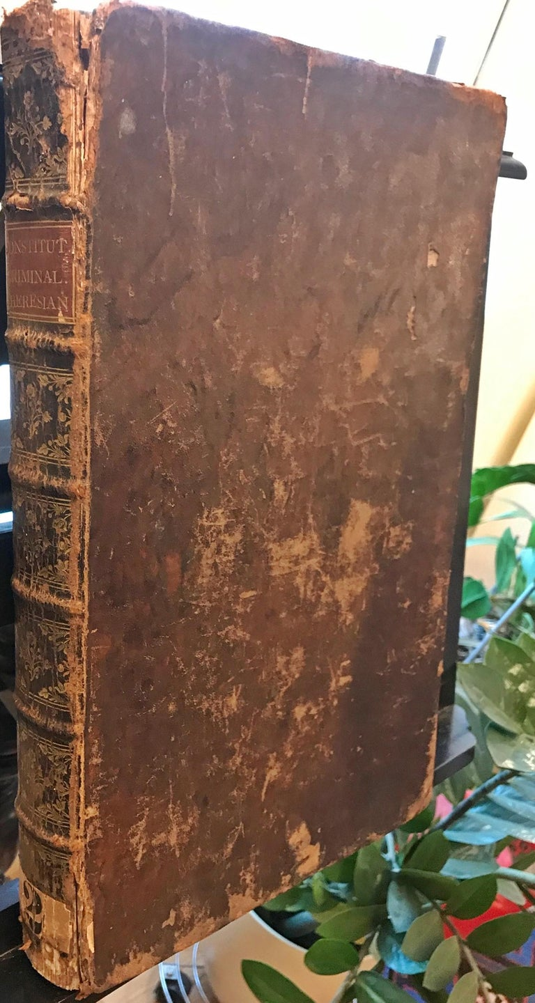 Other Rare Torture and Law Book, Constitutio Criminalis Theresiana, 1769 For Sale
