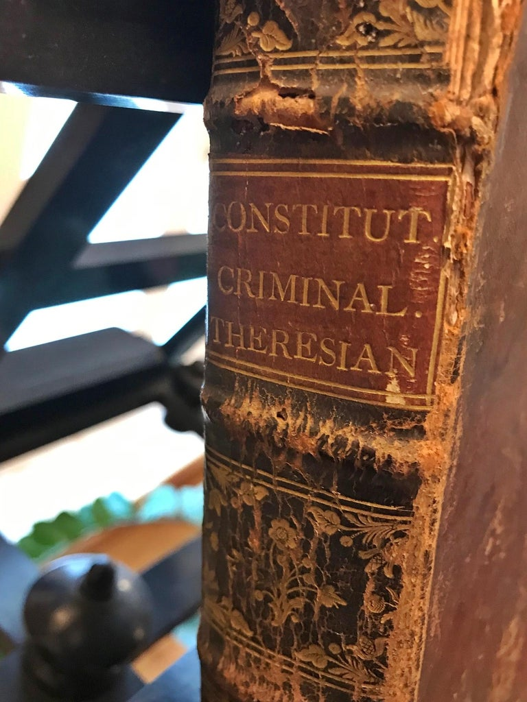 Austrian Rare Torture and Law Book, Constitutio Criminalis Theresiana, 1769 For Sale