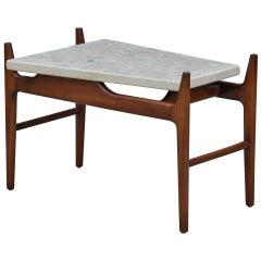 Rare Trapeze Terrazzo Side Table