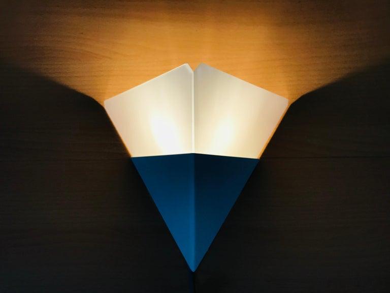 German Rare Triangle Ice Glass Sconce by Kalmar, Austria, 1960s For Sale