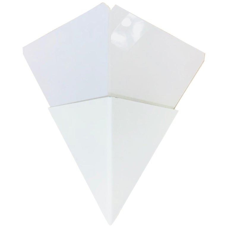 Rare Triangle Ice Glass Sconce by Kalmar, Austria, 1960s For Sale