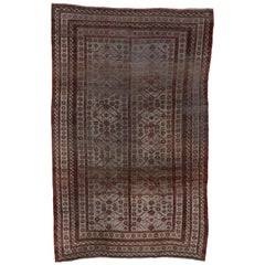 Rare Tribal Antique Belouch Carpet, Silver Field