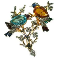Rare Trifari Art Deco Birds on Branch, Alfred Phillipe