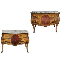 Rare, Turn-of-the-Century, French, Japanned Commodes