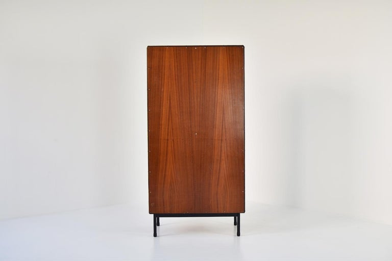 Rare Two-Tone Cabinet by Willy Van Der Meeren for Tubax, Belgium, 1952 For Sale 3