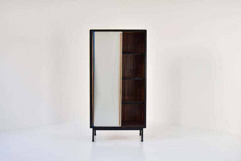 Belgian Rare Two-Tone Cabinet by Willy Van Der Meeren for Tubax, Belgium, 1952 For Sale