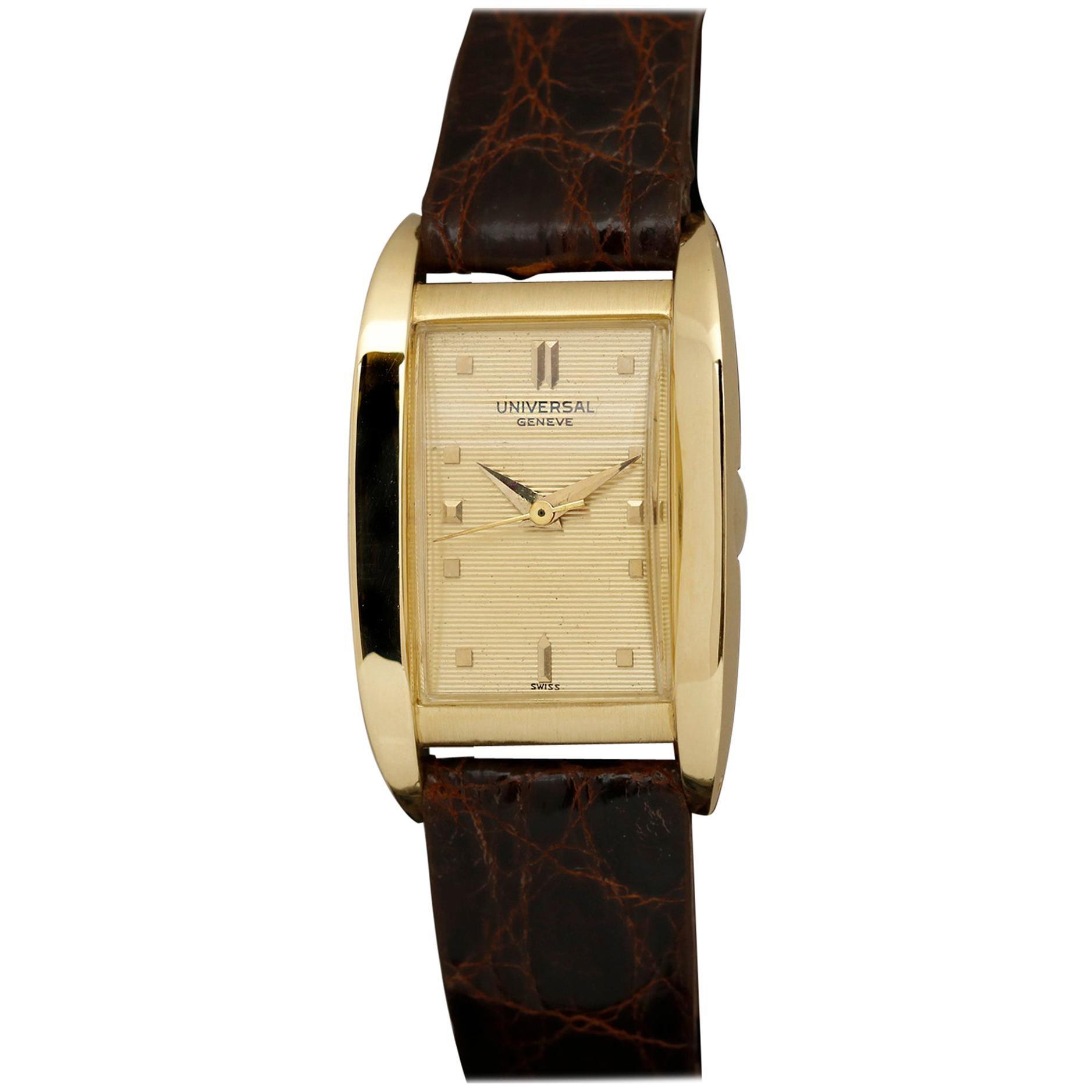 Rare Universal Genève Reference 18915 Yellow Gold Wristwatch, circa 1856