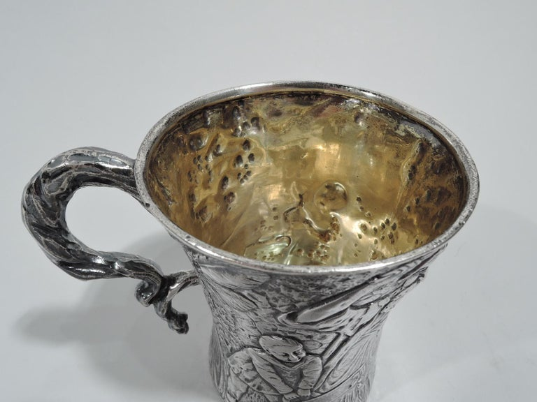 Rare & Unusual Antique American Sterling Silver Baby Cup by Tiffany In Excellent Condition For Sale In New York, NY