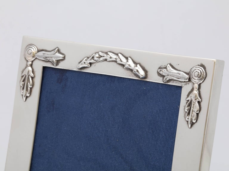 English Rare, Unusual Edwardian Sterling Silver Footed Picture Frame For Sale