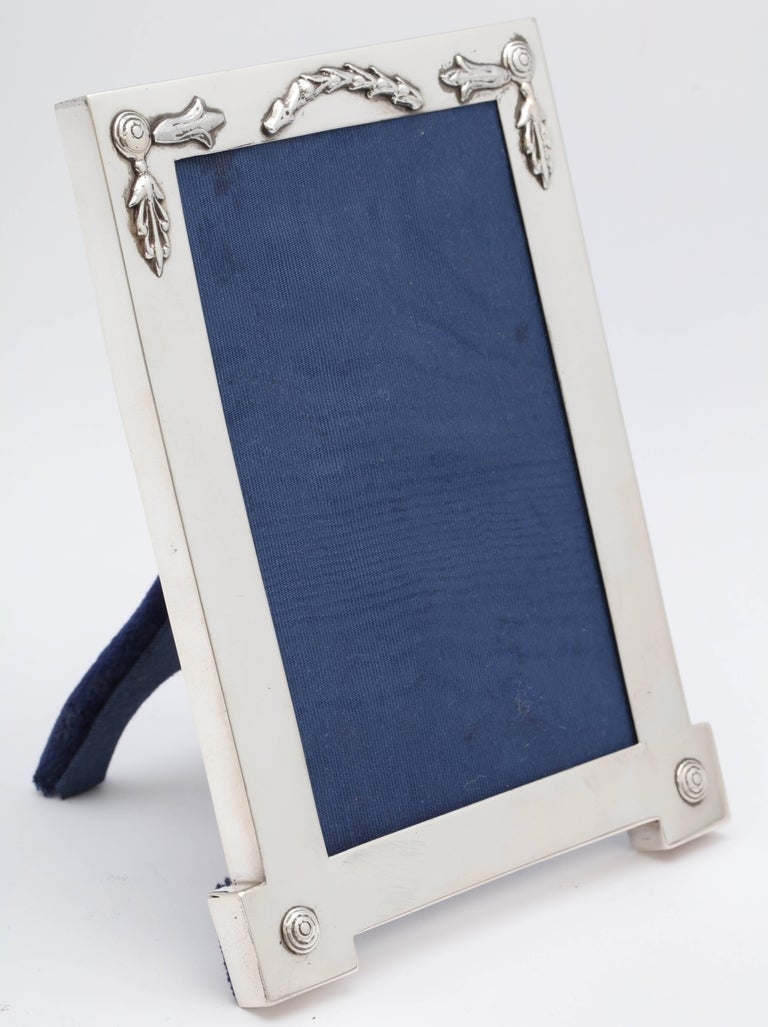 Rare, Unusual Edwardian Sterling Silver Footed Picture Frame For Sale 3