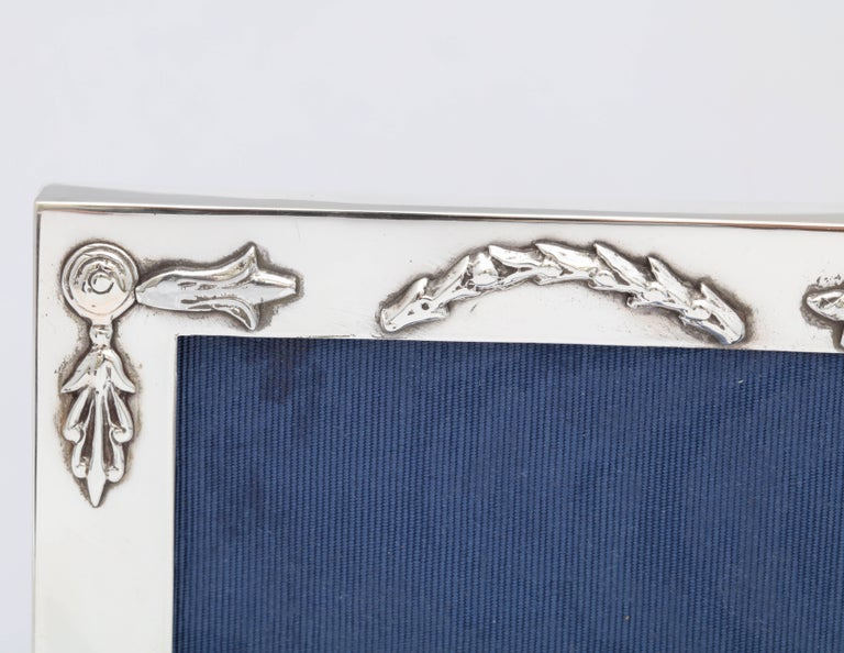 Rare, Unusual Edwardian Sterling Silver Footed Picture Frame For Sale 4