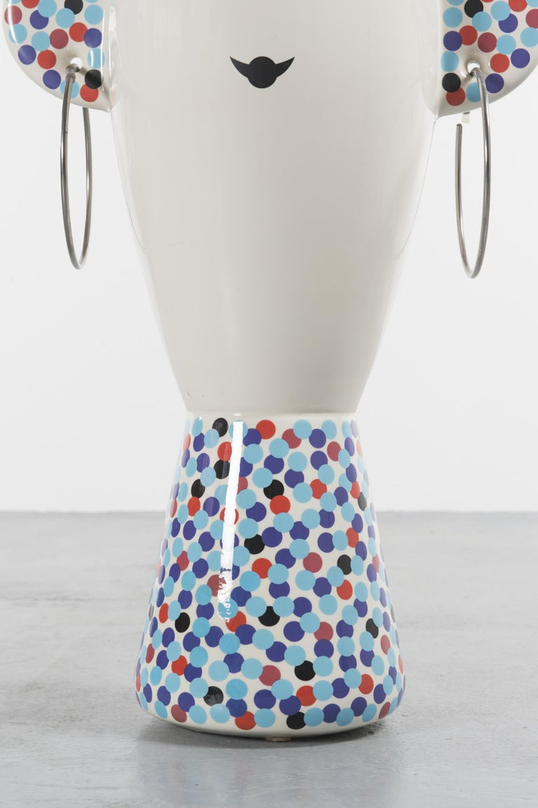Italian Rare Vaso Viso TOTEM by Alessandro Mendini for Alessi Limited Edition For Sale