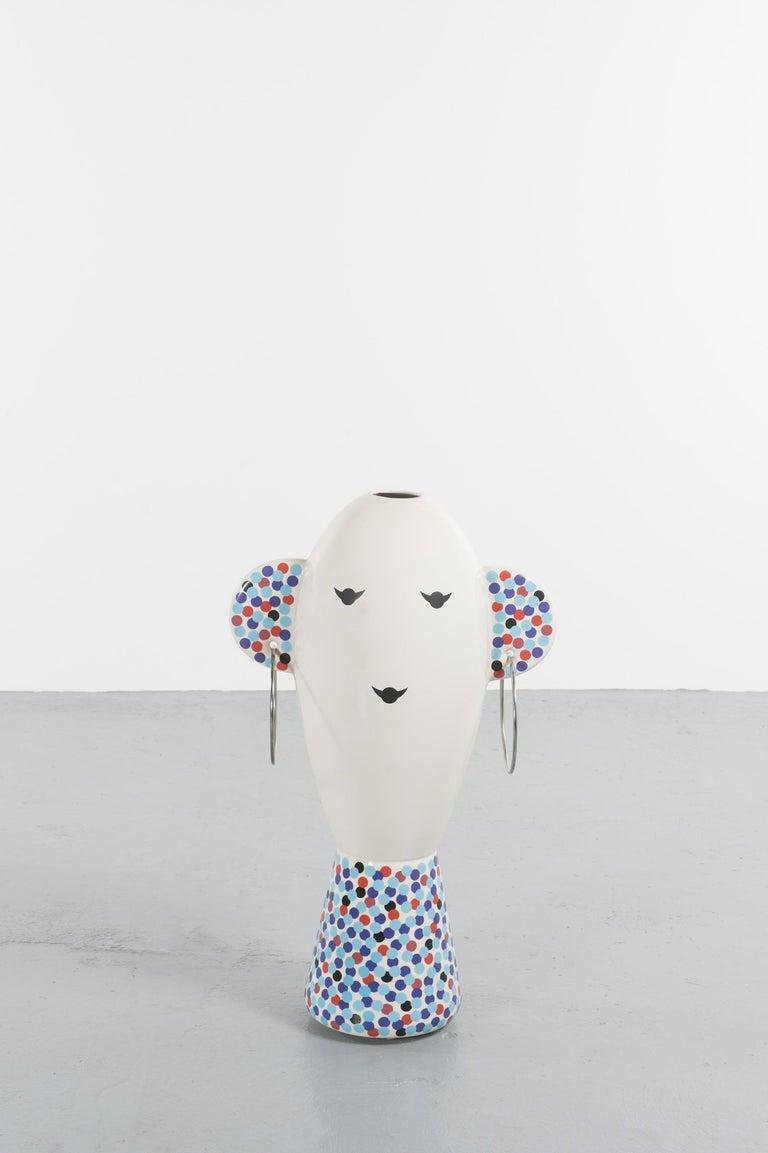 Ceramic Rare Vaso Viso TOTEM by Alessandro Mendini for Alessi Limited Edition For Sale