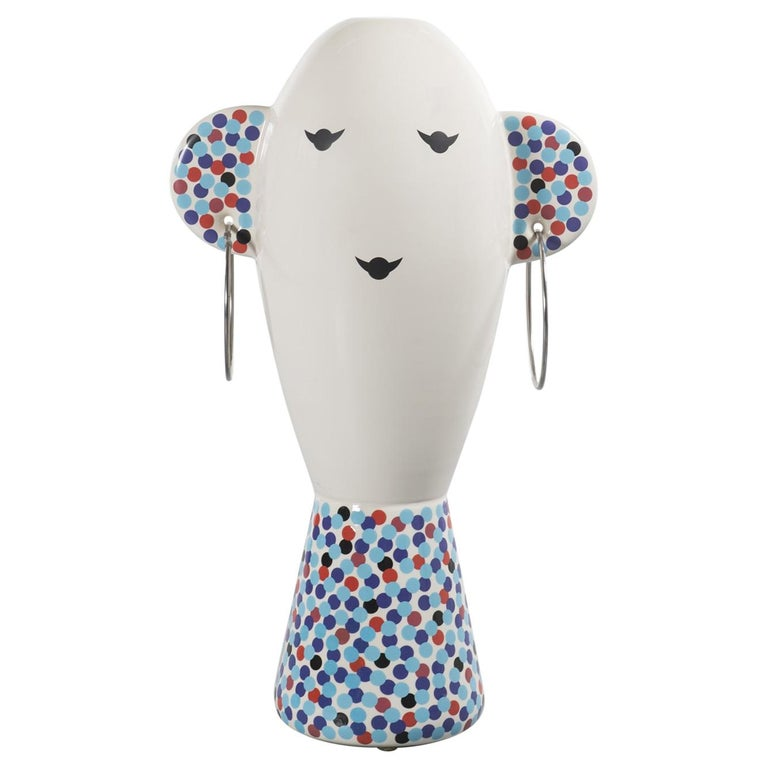 Rare Vaso Viso TOTEM by Alessandro Mendini for Alessi Limited Edition For Sale