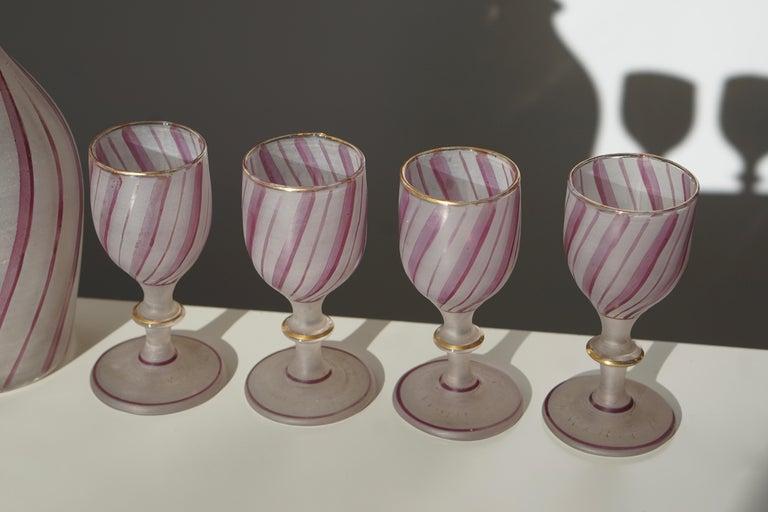 Rare Venetian Glass Liquor Set for Venini, 19th Century For Sale 1