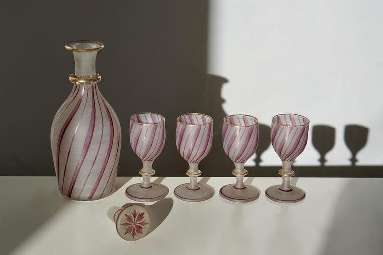 Rare Venetian Glass Liquor Set for Venini, 19th Century For Sale 2