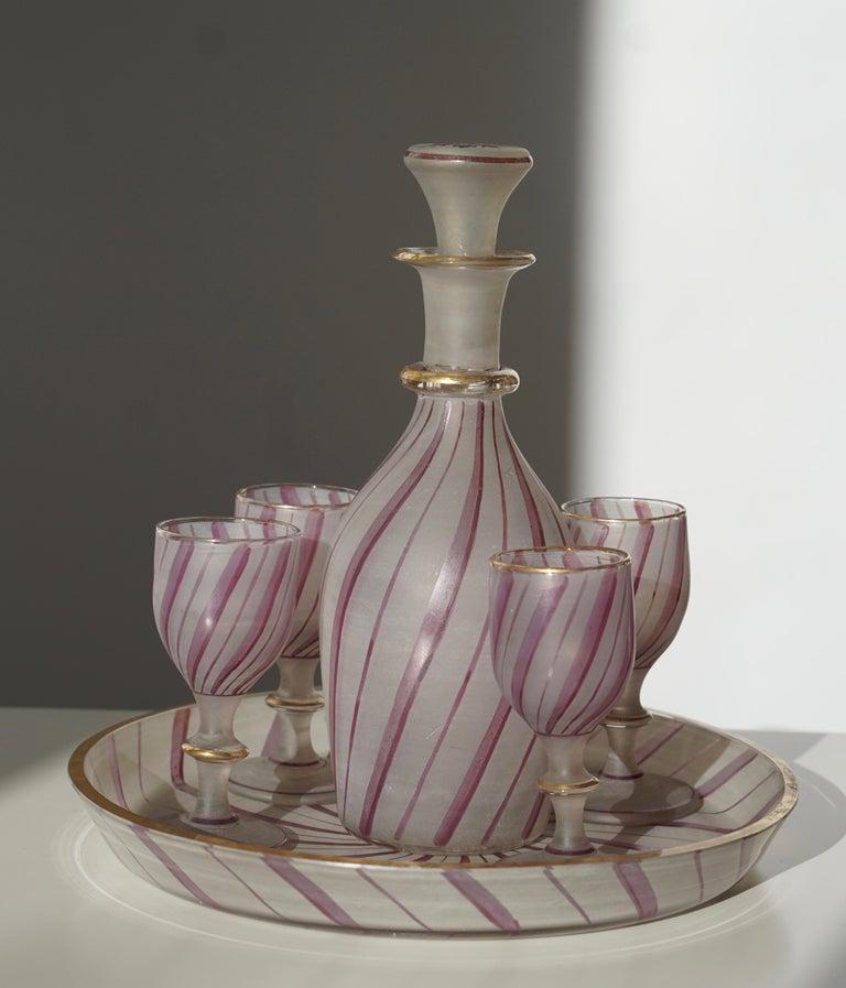 Rare Venetian Glass Liquor Set for Venini, 19th Century For Sale 3