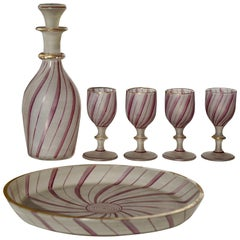 Rare Venetian Glass Liquor Set for Venini, 19th Century
