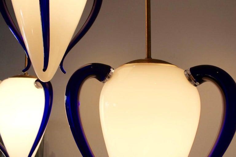 20th Century Rare 'Venexiana' Murano Glass Egg-Shaped Pendant by Barovier & Toso For Sale