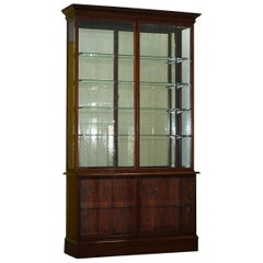Rare Victorian Haberdashery Apothecary Shops Cabinet Fully Glazed Door Bookcase