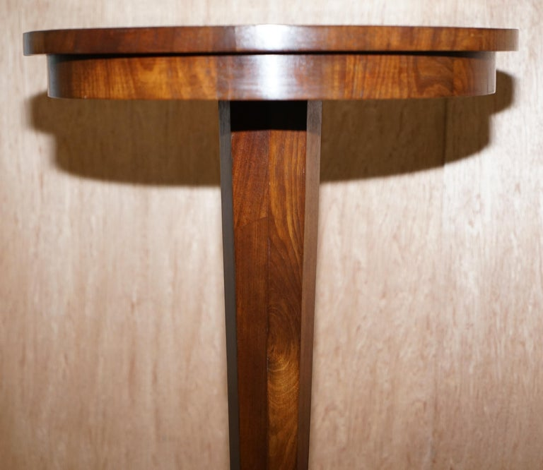 Rare Victorian Mahogany Occasional Table, Geometric Parquetry Inlaid Wood Top For Sale 2