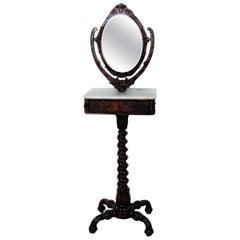 Rare Victorian Shaving Mirror Attributed to Thomas Brooks