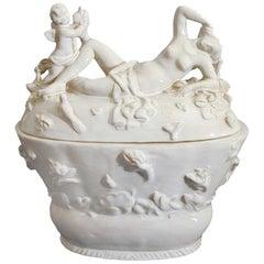 Rare Vienna Secessionist Ceramic Lidded Jar by Willi Russ