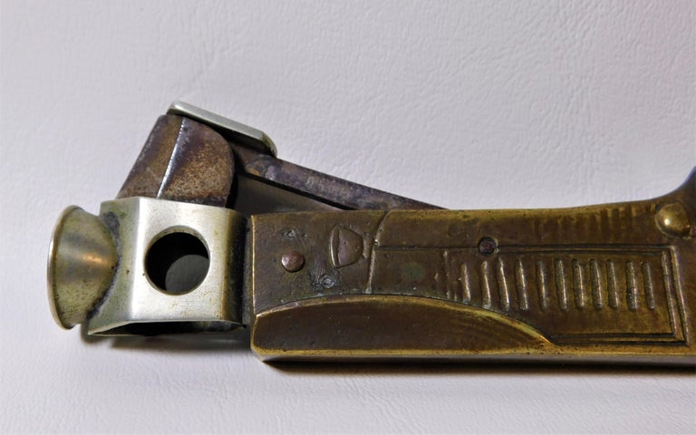 Rare Vintage 1920s French Bronze Cigar Cutter Racing Car For Sale 1