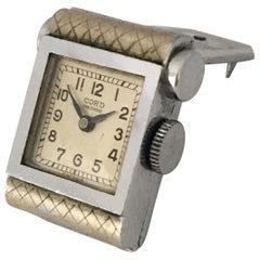 Rare Vintage Brooch / Cufflinks Mechanical Watch