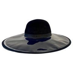 Rare Vintage Chanel Runway PVC Wide Brimmed Hat