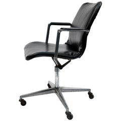 Rare Vintage Charles & Ray Eames Aluminum Office Chair Herman Miller