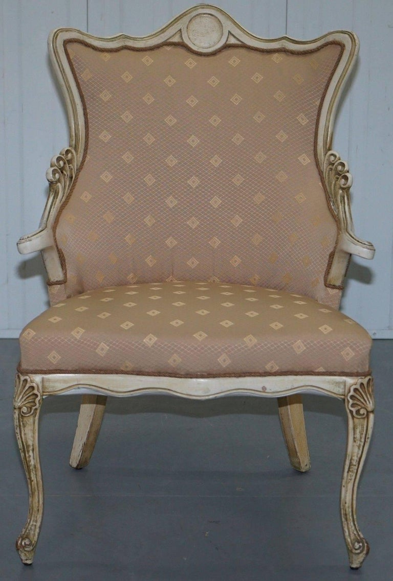 We are delighted to offer for sale this lovely late 19th century French Louis occasional armchair  A lovely looking and sculpted piece, I purchased this from north east Holland and it was listed as an late 19th century piece made in the Manor of a