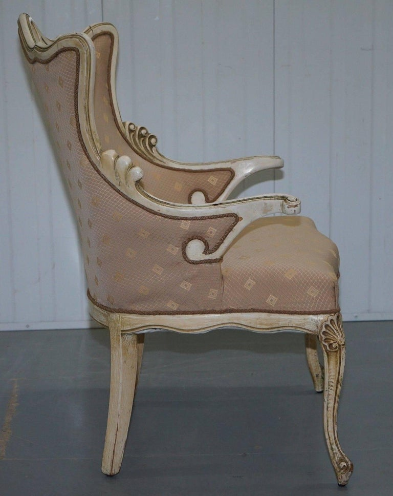 Rare Vintage French Late 19th Century Occasional Armchair Shabby Chic Style For Sale 1