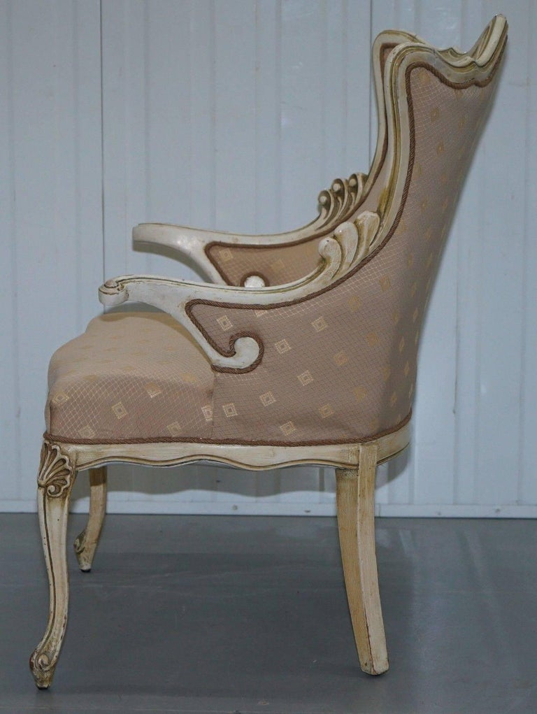 Rare Vintage French Late 19th Century Occasional Armchair Shabby Chic Style For Sale 3