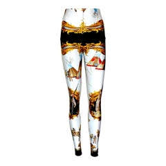 Rare Vintage Gianni Versace Native American Print Leggings Pants FW 1992-1993
