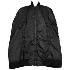 Rare Vintage Jean Paul Gaultier Black MA-1 Flight Bomber Cape