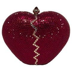 Rare Vintage Judith Leiber Broken Heart Swarovski Crystal Minaudiere