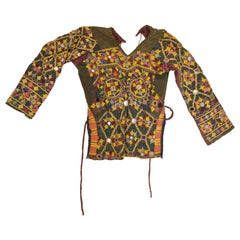 Rare Vintage Kutch Tribal Choli, Blouse with Hand Embroidery and Mirrors, India