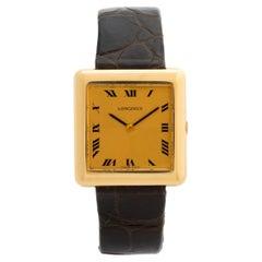 Rare Vintage Longines Dress Watch, Circa 1978, 18k Yellow Gold, Box & Papers